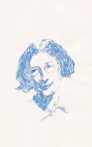 Drawing of Simone Weil by Dino Alfier (2011)
